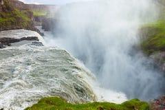 waterfal的古佛斯瀑布,冰岛 免版税库存照片