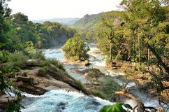 Waterfal Agua Azul Chiapas Mexico Royalty Free Stock Photos