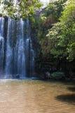 Waterfal Bagaces在哥斯达黎加 库存照片