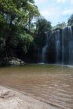 Waterfal Bagaces在哥斯达黎加 免版税图库摄影