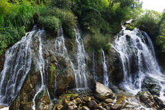 Waterfal blisko kota kota wioski, Wietnam Fotografia Royalty Free