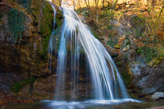 Waterfal in Crimean forest Stock Photography