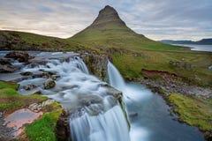 waterfal的Kirkjufellsfoss 库存照片