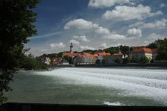 waterfal newar Austria kurort Zdjęcia Stock