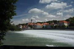 Waterfal newar del ricorso dell'Austria Fotografie Stock