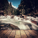 Waterfal. L in the mountains in the national park Hohe Tauern in Austria Stock Photos