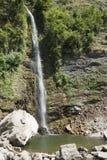 Waterfall台尔Botto, Rovio -瑞士 免版税库存图片