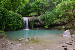 Waterfall湖 免版税库存照片