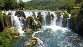 Waterfall - Štrbački buk. Štrbački buk is a 24 m high waterfall on the river Uni near the village of Kulen Vakuf and Orašac, which is located near the Royalty Free Stock Photo