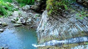 Waterfall. природа nature, гармония harmony, relax, recreation,  summer water the mountains Stock Photos