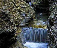 Waterfall 1. Small waterfall in upper New York state Royalty Free Stock Photos
