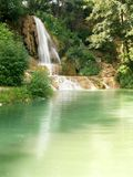 Waterfall. A view of a lake and waterfall in summer Royalty Free Stock Photography