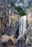 Waterfall. Boka, one of the most beautiful s in Slovenia Royalty Free Stock Images