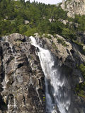 Waterfall. In the Lysefjord, Norway Royalty Free Stock Photography