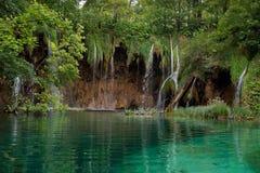 Waterfall. And lake at Plitvice Lakes, Croatia Royalty Free Stock Image