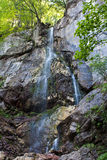 Waterfall. Remote mountain waterfall, 20 meters tall royalty free stock photos