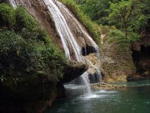 Waterfall. A waterfall in Semuc Champey national park in Guatemala Stock Photos