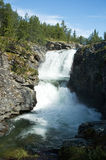 Waterfall. In national park Rondane Stock Image