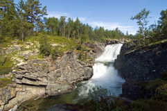 Waterfall. In national park Rondane Stock Images