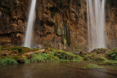Waterfall. In East Europe Croatia Royalty Free Stock Image