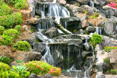 Ornamental waterfall Stock Image