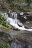 Waterfall. Peaceful waterfall in a tea garden Stock Photography