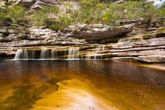Waterfall. Nature Scene - Small waterfall in chapada diamantina - Brazil Stock Image