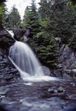 Waterfall. This hidden waterfall is secluded in the woods just outside of jackman , maine stock photography