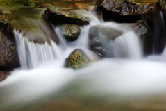 Waterfall. Silky waterfall of a river in the forest Stock Photo