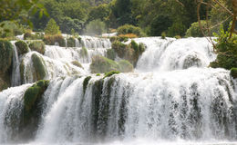 Waterfall. In the krka national park, croatia Royalty Free Stock Photos