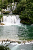 Waterfall. In the krka national park, croatia Stock Image