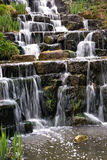 The waterfall. The small waterfall in the park Royalty Free Stock Photos