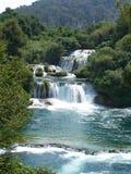 Waterfall. Beautiful and clear waterfall in Croatia Royalty Free Stock Image