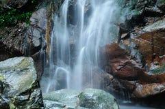 WaterFall. A small Water-fall in Hong Kong river royalty free stock image