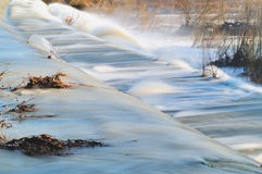 Waterfall. After heavy rain on a winter morning day Stock Image