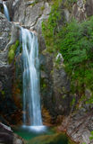 Waterfall. Arado waterfall in Geres National Park, north of Portugal royalty free stock photo