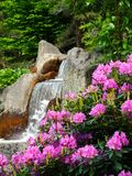 Waterfall. View on a waterfall in a japanese garden