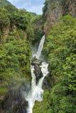 Waterfall. Spectacular Diablo Waterfall (near Banos) - Ecuador Royalty Free Stock Photography