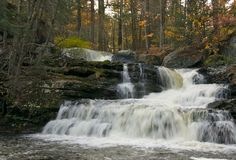 Waterfall. In Childs Park, Delaware Water Gap National Recreation Area stock image