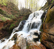 Waterfall. In Carpatian mountains, Ukraine Royalty Free Stock Image