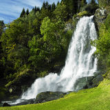 Waterfall. Skeie Waterfall in Norway, Scandinavia Stock Photo
