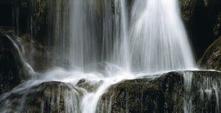 Waterfall. On Slovakia royalty free stock photos