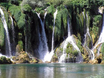 Waterfall. This is an waterfall in Bosnia and Herzegovina 35km of Mostar. very nice place worth of joy and happyness waterfall called Kravice (little cows Stock Images