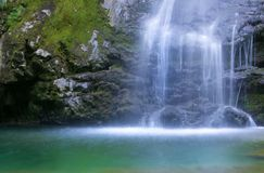 Waterfall. With pure water, long exposure Royalty Free Stock Photo