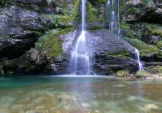 Waterfall. With pure water, long exposure Royalty Free Stock Photos