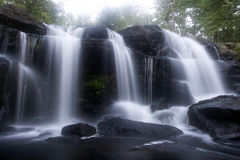 Waterfall. Time exposure creates the blur in the water at this large waterfall stock photos