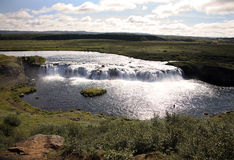 Waterfall. Iceland waterfall on summer's day Stock Photo