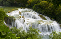 Waterfall. View of the waterfall surrounded by trees from the top of Royalty Free Stock Image