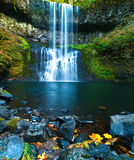 Waterfall. Long exposuer waterfall Waterfall in Silver Falls State Park, Oregon, USA