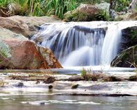Waterfall. A small water fall in National Park Isalo, Madagascar royalty free stock image